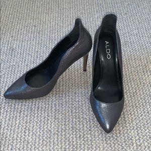 Aldo Dark Silver Heels